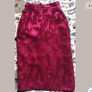 J. Mendel Paris Red skirt